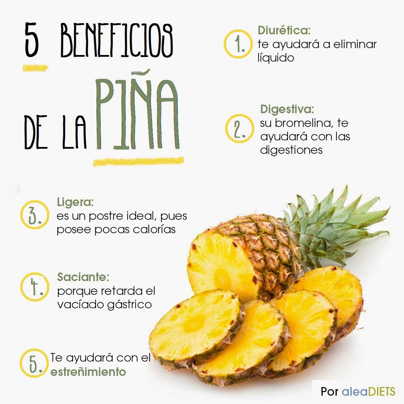 Micropost Gráfico 5 Beneficios De La Piña La Dieta Alea Tu Nutricionista Online Y En Salamanca