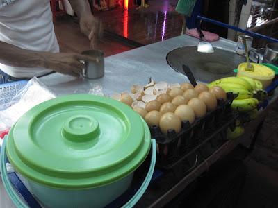 Bangkok street food, roti