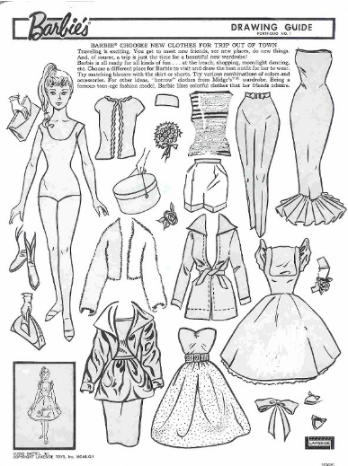 miss missy paper dolls vintage barbie drawing guide portfolio. Black Bedroom Furniture Sets. Home Design Ideas