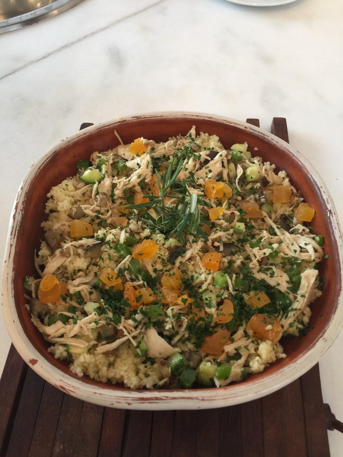 Comida rápida couscous marroquino
