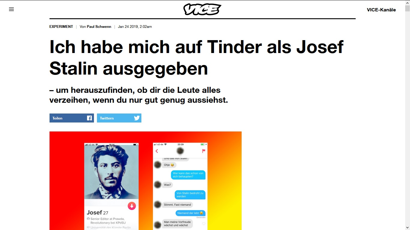 Vice online dating