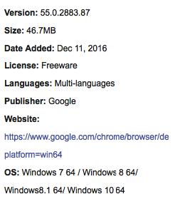 google chrome free download windows 7 64 bit latest version
