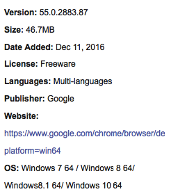 Google Chrome 64 bit For Windows Free Download