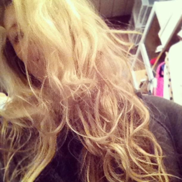 no heat curls, hair