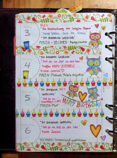 Plan with me: Montags bis Donnerstag