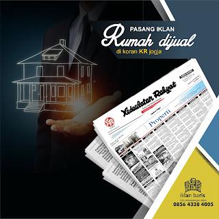 pasang iklan Jual Rumah di koran Kedaulatan Rakyat jogja hub 085643384005