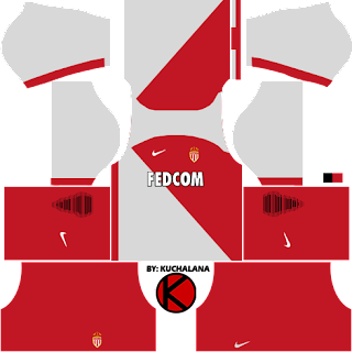 AS Monaco FC Nike Kits 2017 - Dream League Soccer 2017