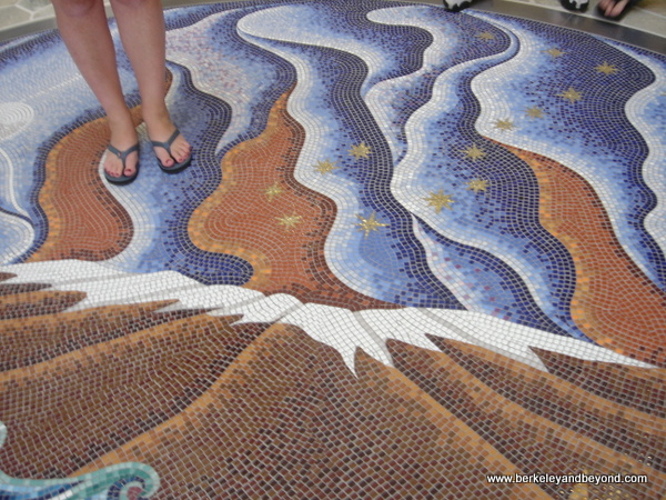 lobby floor mosaic at 'Imiloa Astronomy Center of Hawaii in Hilo