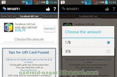 Cara menukarkan saldo Whaff dolar dengan Facebook Gift Card untuk pasang iklan