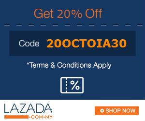 Lazada Malaysia Discount 20% October 2016