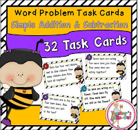 Simple Word Problem Task Cards