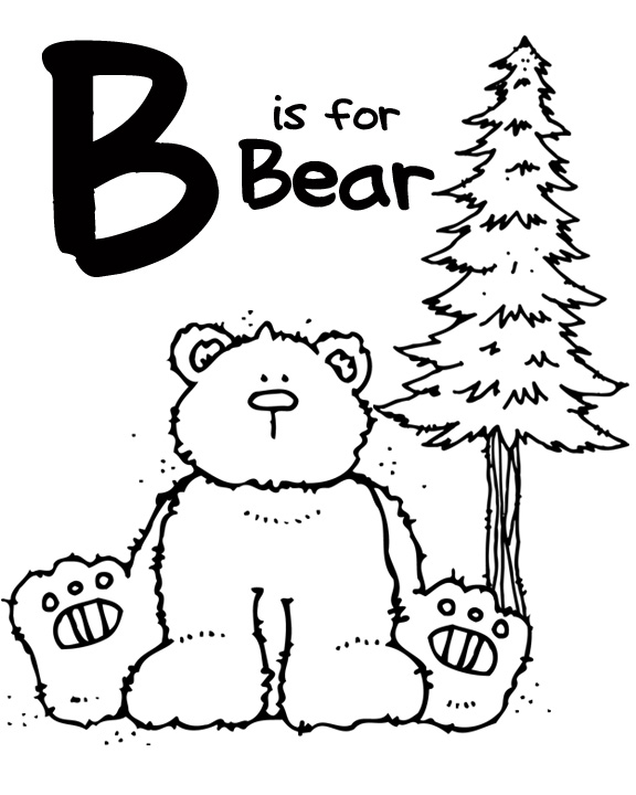 we love being moms! letter b (bear & bee)
