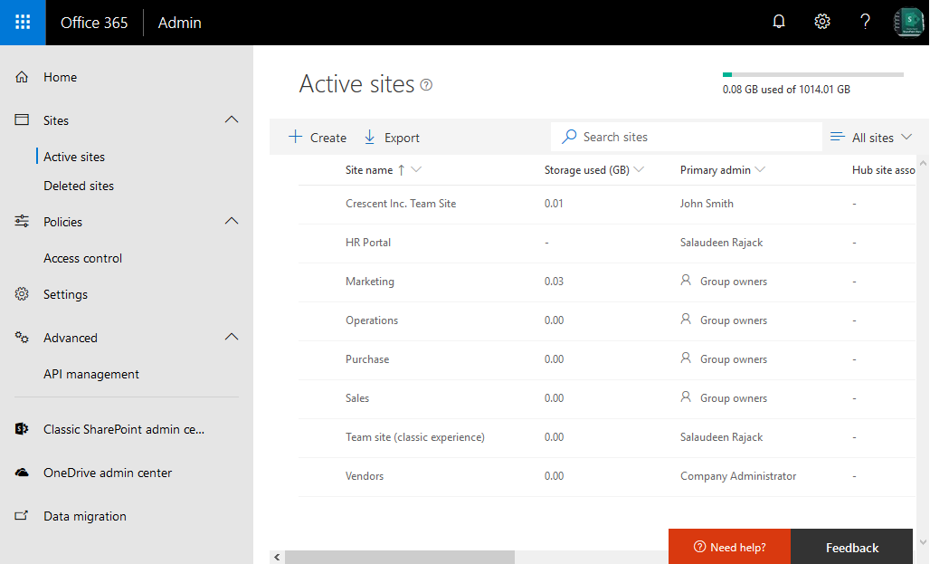 create a site collection in sharepoint online using powershell