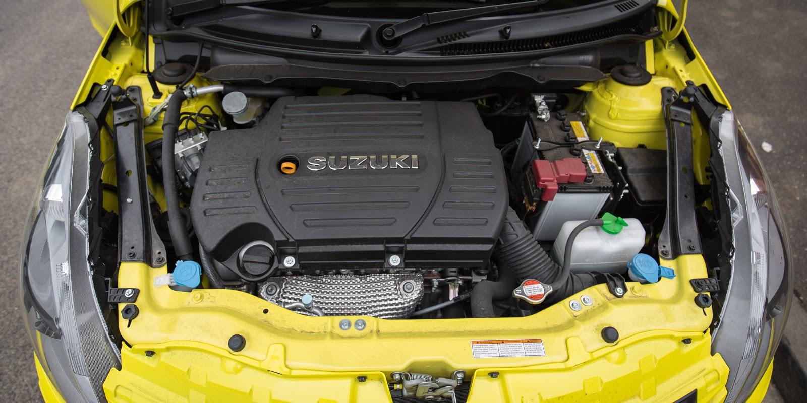 Động cơ 1,6 lít công suất 130 mã lực của bản Suzuki Swift bản Sport