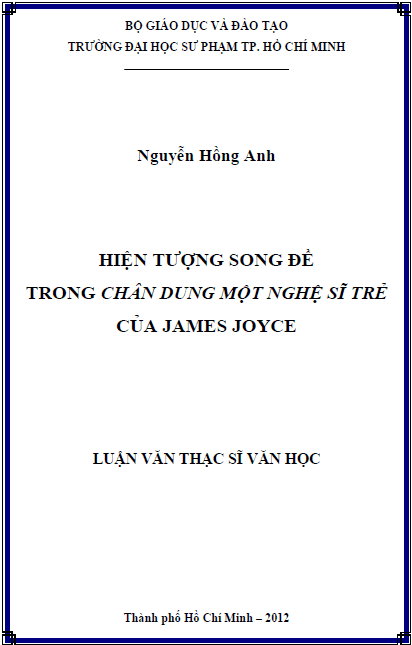 """Hiện tượng song đề trong """"Chân dung một nghệ sĩ trẻ"""" của James Joyce"""