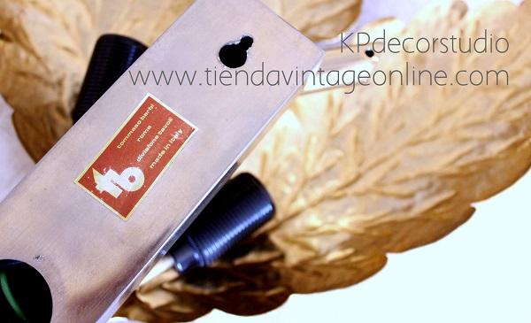 Lamparas vintage online diseño, lamparas bañadas en oro. Tomasso Barbi