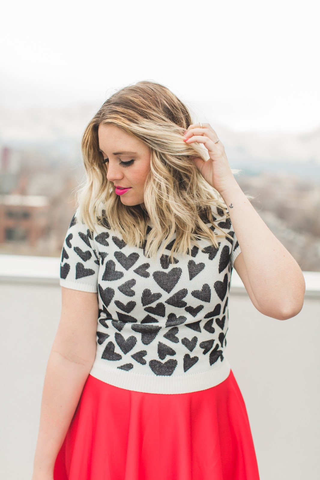 Heart Sweater, Heart Top, Utah Fashion Blogger, Forever 21