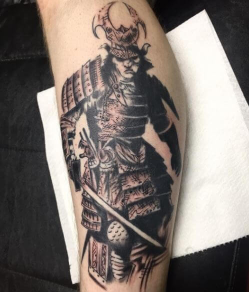 40b5bd7b41d70 If you consider yourself as a warrior then there is no better choice than  an angry samurai tattoo and that too in full armor like this.