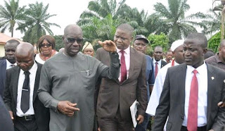 Obaseki inspects CBN school project in isi