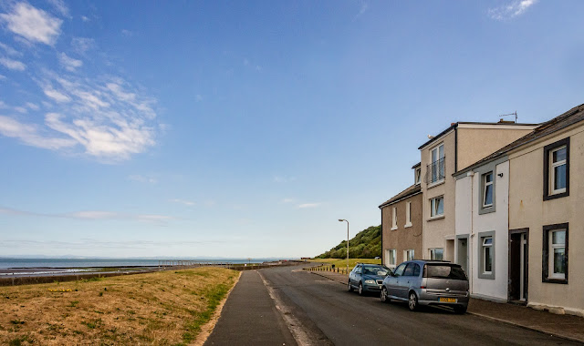 Another shot of the terraced house showing its proximity to the sea