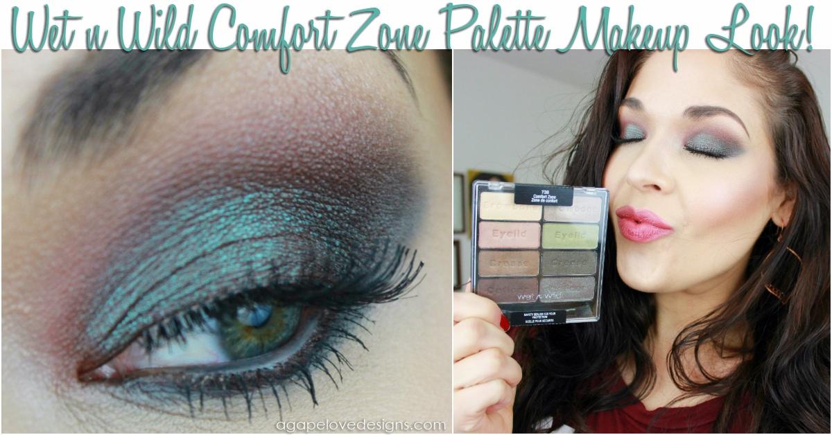 Agape Love Designs Wet N Wild Comfort Zone Palette Makeup Look