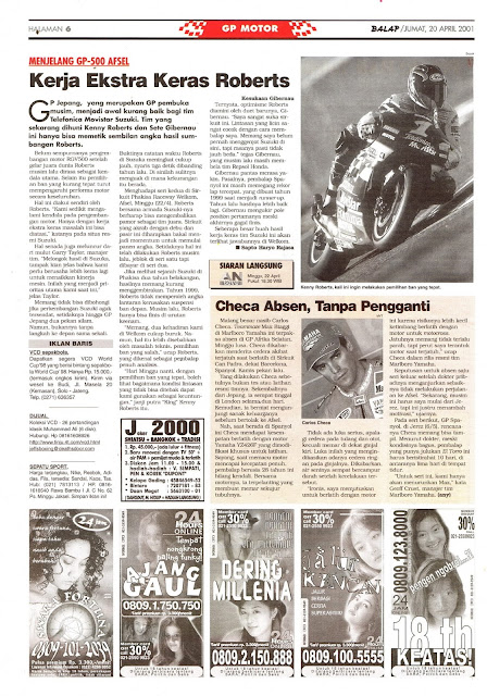 BALAP GP MOTOR: MENJELANG GP-500 AFSEL