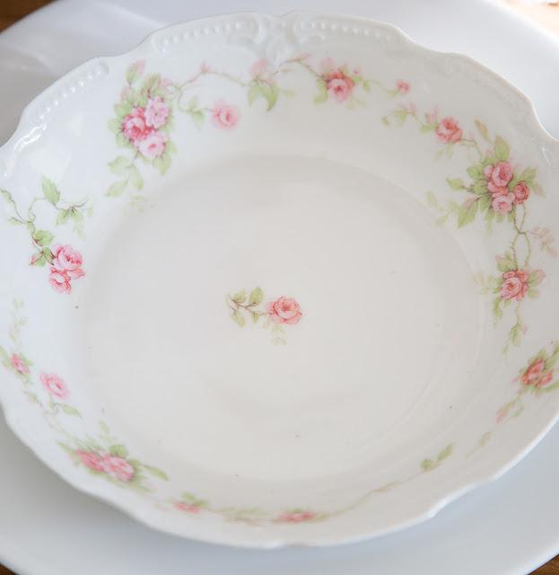 flea market style china plate