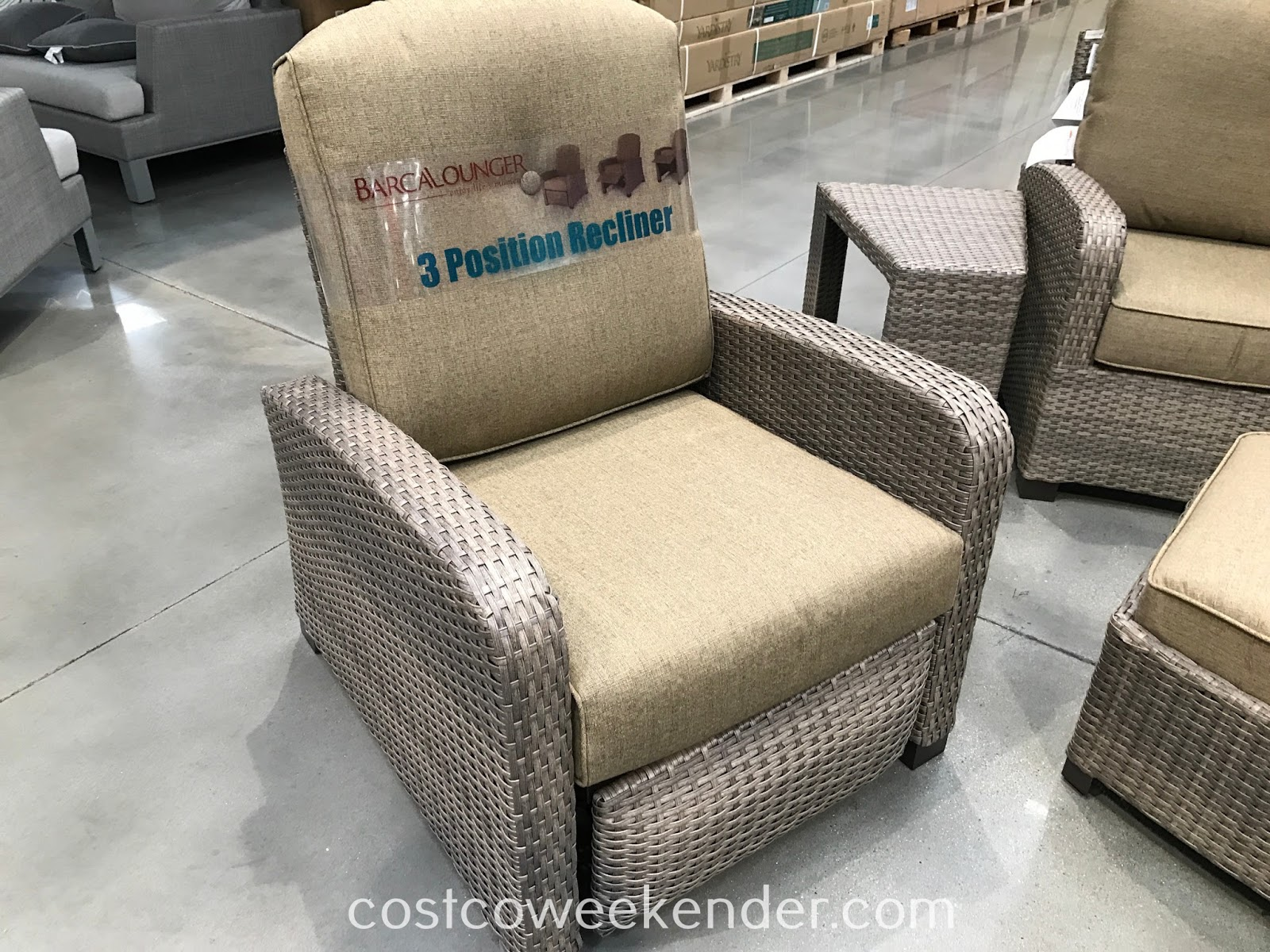 Barcalounger Woven Theater Seating Set recliner chair