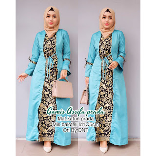 Batik Wanita Gamis Assifa Prada