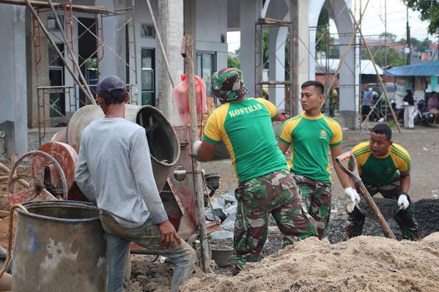 25  Prajurit Yonkav 1 Kostrad Bantu Pembangunan Masjid Al Barkah di Pasar Rebo