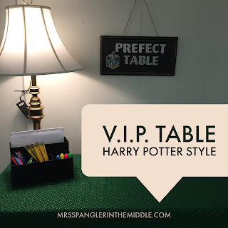 Harry Potter version of a V.I.P. table - the Prefect Table!