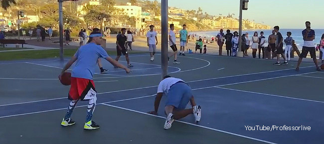 'The Professor' BREAKS Trash Talker's Ankles and Shoulder! 1v1 for $100 (VIDEO)