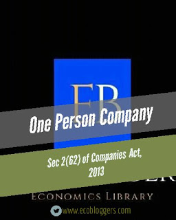 One person company meaning and process to register