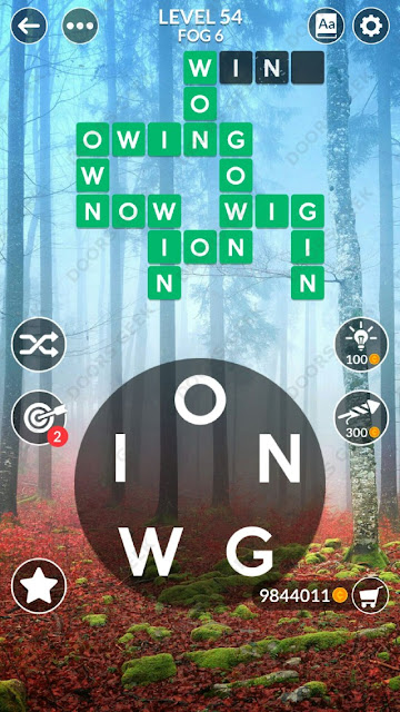 Wordscapes Level 54 answers, cheats, solution for android and ios devices.