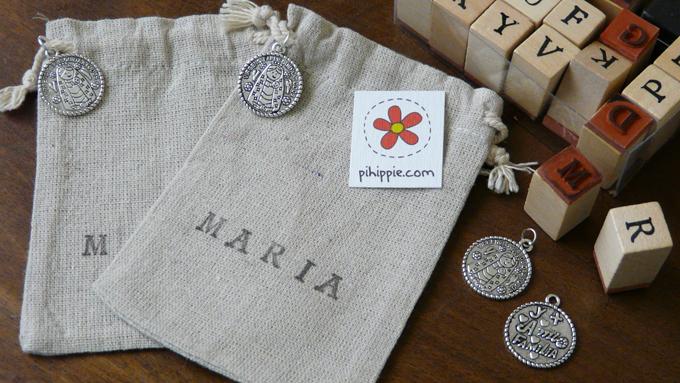 Regalos Comunión bolsitas obsequios medalla Virgencita personalizadas original