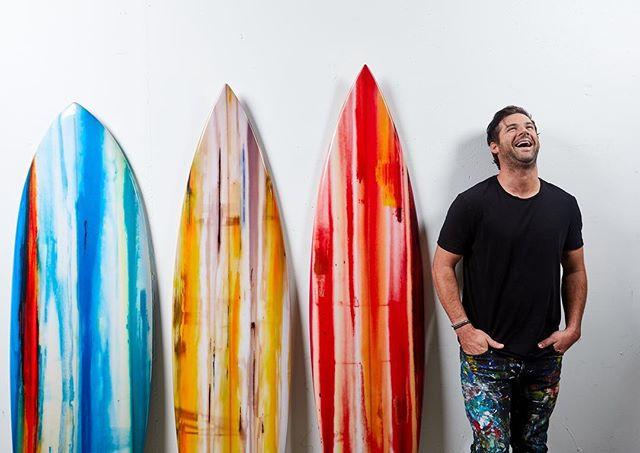 Las texturas naturales del surf art de Erik Skoldberg