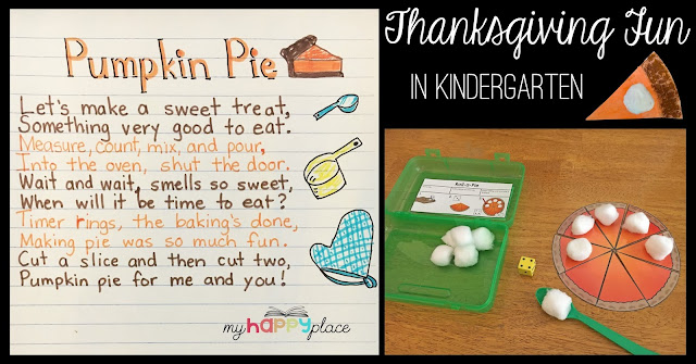 Pumpkin Pie Poem, Craft, and Fine Motor Task Box