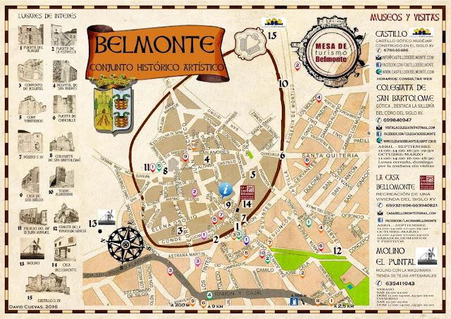 Mapa turístico de Belmonte