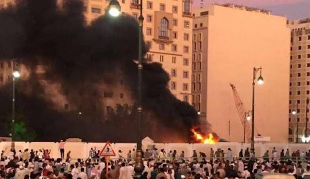 bom Madinah dekat Masjid Nabawi