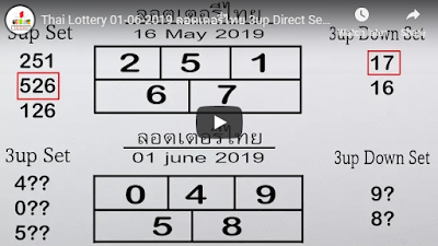 Thai Lottery 01 June 2019 ลอตเตอรี่ไทย 3up Direct Set Pass Trick