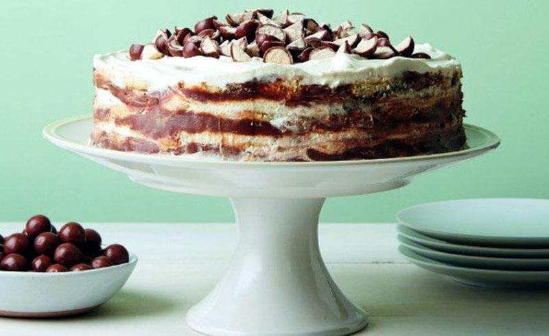 Black and White Malted Icebox Cake
