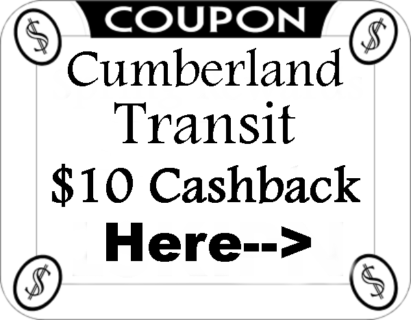 Cumberland Transit Coupons and Cashback 2021-2122 August, September, October