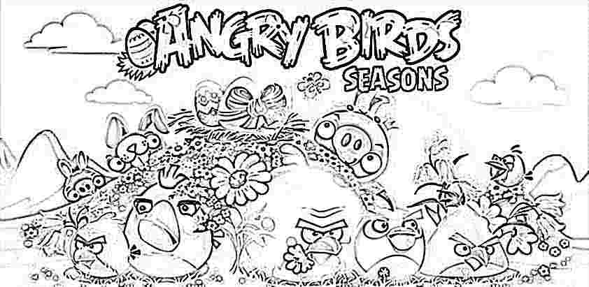 4 Seasons Colouring Sheets : Angry birds seasons 2 coloring page.jpg