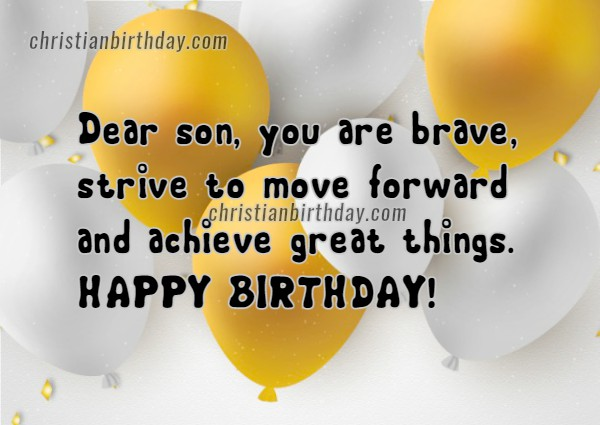 3 Nice Happy Birthday Cards with Quotes for a Son Christian