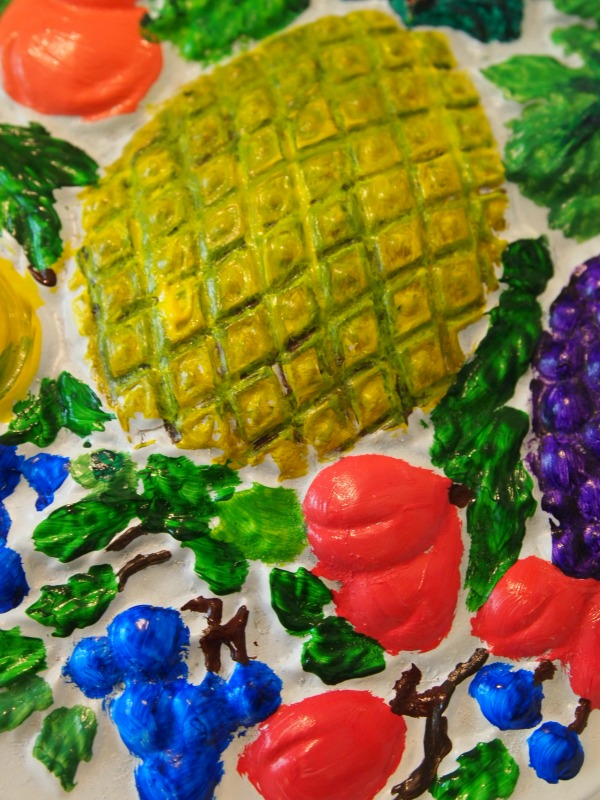 I'll call this one, Fruit Plate! Flip those flea market plates into works of art!