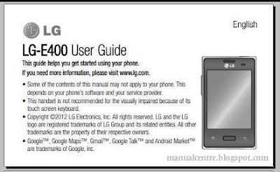 LG Optimus L3 manual / user guide