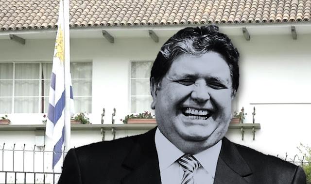 Alan García cumple una semana en la residencia del embajador de Uruguay