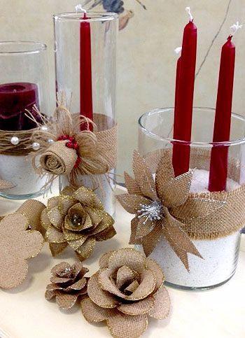 De manera f cil haz un hermoso centro de mesa navide o muy for Centros de mesa navidenos elegantes