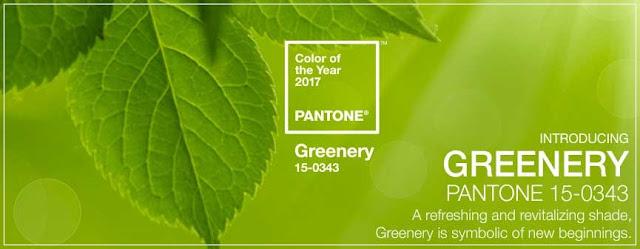 Greenery, a cor oficial de 2017 Pantone