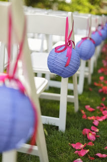 wedding ceremony paper lanterns